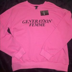 ⭐️NWT forever 21 pink sweatshirt